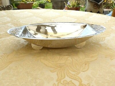 Art Deco Silver Plated Rectangular Pierced & Footed Dish   1350128/132
