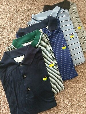 Lot Of 5 Vintage Masters Augusta National Golf Polo Shirts Sz Large