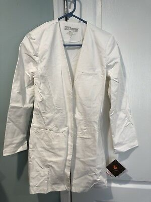 Brand new Women's Barco Grey's Anatomy Knee-length fitted white coat, size S