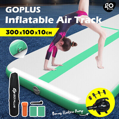 Inflatable Air Track GYM Mat Gymnastics Home Water Buoyancy Tumbling Mat w/Pump