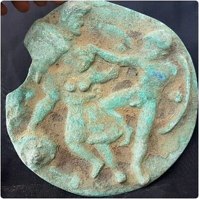 Rare ancient scythia - bronze plaque with battle scene
