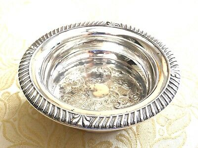 Vintage Silver Plated Decanter Coaster/stand With Gadroon Edge  150317054/056