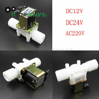 "1/2"" N/C Magnetic Electric Solenoid Valve Water Air Inlet Switch 12/24/220V"