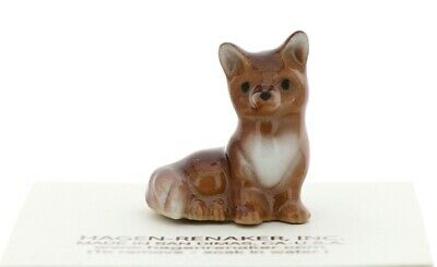 Baby Fox Miniature Figurine Wildlife Model Made in USA by Hagen-Renaker