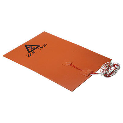 750W@220V 200*300 Silicone Heater Heating Pad for 3D Printer Heated Bed