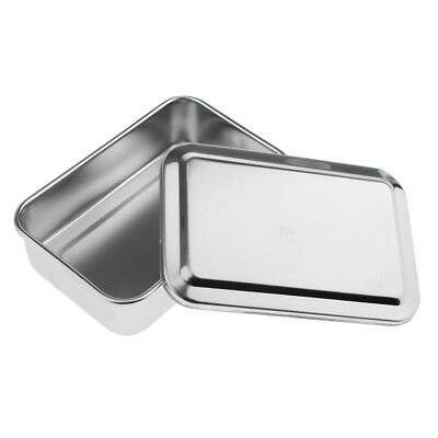 "5.5"" Stainless Steel Surgical Instrument Dental Tool Box Disinfection Tray"