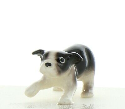Black & White Boston Terrier Puppy Miniature Dog Figurine by Hagen-Renaker
