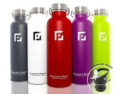 Glacier Point Vacuum Insulated Stainless Steel Water Bottle (Green, 25 OZ)