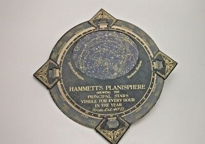 HAMMETT'S PLANISPHERE ~ Leather Rotation Celestial Starmap ~ Astrology Antique