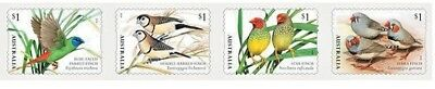 > 2018 Finches Of Australia, 4, P&s Australian Franked Stamps