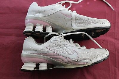 the latest 5476d dae11 Womens Nike Shox Vivify Running Shoe White   Pink Sz 8.5 Athletic Sneaker