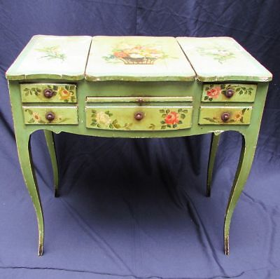 Antique Venetian Hand Painted Italian French Dressing Table