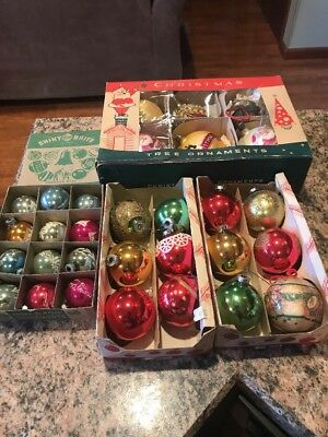 Vintage Shiny Brite Christmas Ornaments. Lot Of 30 Ornaments. Great Condition.