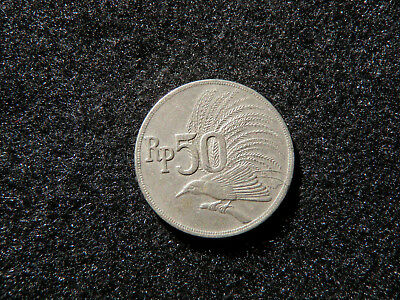 1971 - 50 Rupiah Coin from Indonesia - Greater Bird of Paradise