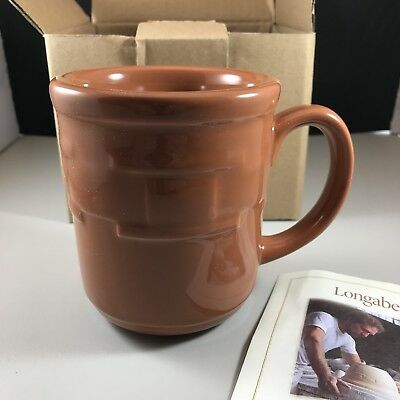 Longaberger Pottery Coffee Mug Cup in Color Spice NIB - Mint!