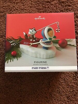 Hallmark Frosty Friends Porcelain Figurine Porcelain Eskimo With Husky NIB