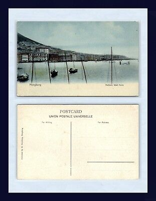 China Hong Kong Harbour, West Point,  M. Sternberg, Publisher, Circa 1907