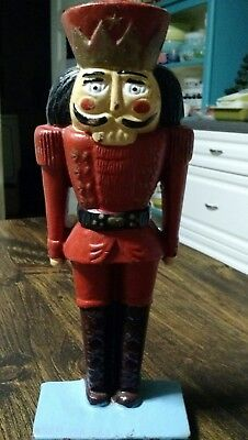 "Old Vintage Cast Iron Christmas Nutcracker 11"" Very Nice Condition !"