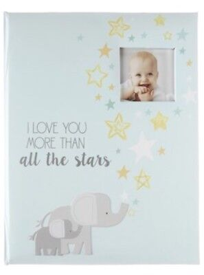 "CR Gibson Stepping Stones ""I Love You More Than All The Stars"" Baby Memory Book"