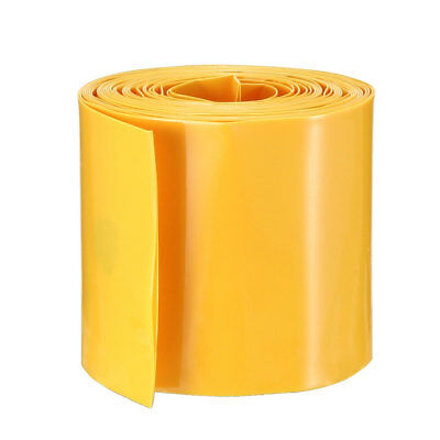 PVC Heat Shrink Tubing Tube 29.5mm Battery Wrap for 1 x 18650 Battery 2M Yellow