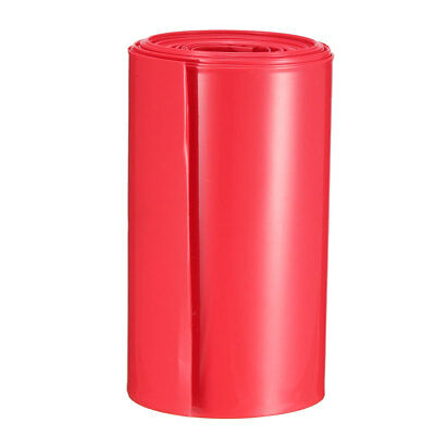 PVC Heat Shrink Tubing Tube 103mm Battery Wrap for 2 x 18650 Battery 5M Red