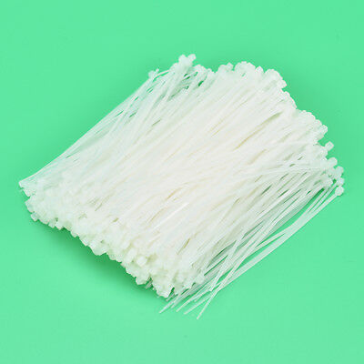 1000PCS White Nylon Cable Wire Zip Ties Self-locking Nylon Tie  With 3*120mm SM