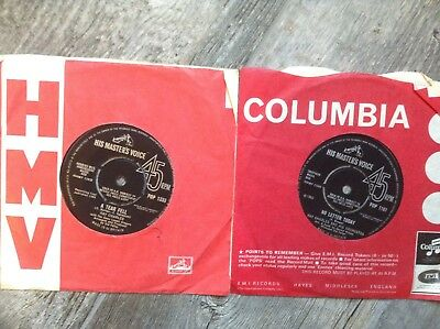 """Lot of 2 RAY CHARLES 7"""" UK 45's TAKE THESE CHAINS FROM MY HEART NO ONE TO CRY TO"""