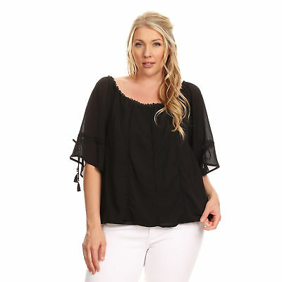17360327a XEHAR WOMEN'S PLUS Size Spaghetti Strap Off Shoulder Crochet Blouse ...