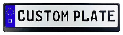 Custom German License Plate with Small Font (up to 11 characters) and Frame