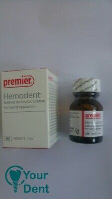 Dental Hemodent Buffered Hemostatic Solution For Topical Application FREE SHIP