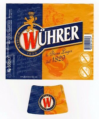 ETICHETTA BIRRA ITALIA- BEER LABELS COLLECTION -  WUHRER Lager