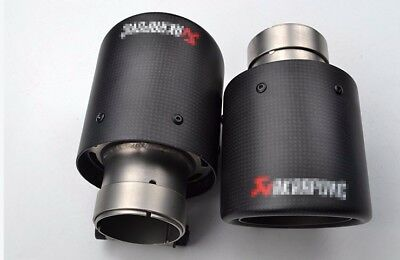 1x Akrapovic Style All Sizes (List Below) Exhaust Tip Carbon Fiber Muffler Pipe