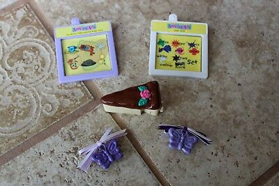 Amazing Ally Talking Interactive Doll Cartridges 5 Pc Lot Hair Bow Accessories