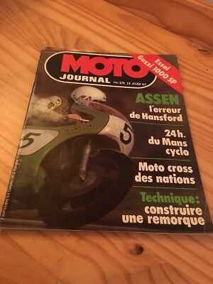 moto JOURNAL 1978 N° 376 Assen Hansford , 24 Hrs Mans cyclo , moto guzzi 1000 SP