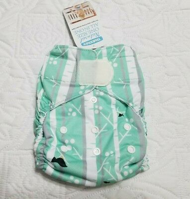 Thirsties / One Size Natural AIO Diaper / 8-40lbs / Snaps / Aspen Grove