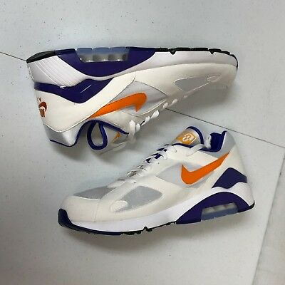 pretty nice ed531 3aa5e NIKE AIR MAX 180 sz 13 WHITE BRIGHT CERAMIC ORANGE (2018) 615287-101  NOBOXTOP - 89.99  PicClick