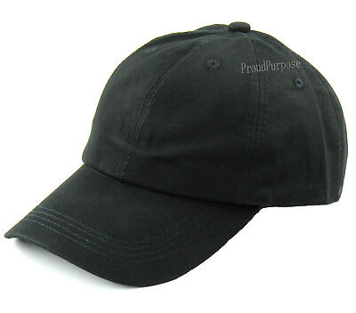 New Mens Womens Plain Baseball Hat Adjustable Cotton Curved Sports Cap Black