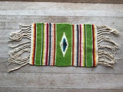 Small Vintage Native American Hand Woven Textile Rug Runner