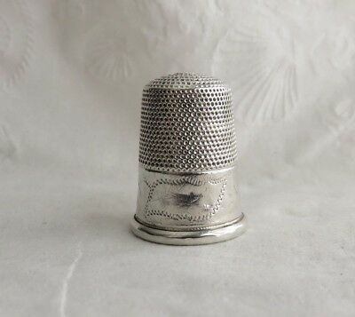 ANTIQUE 1800s STERLING SILVER THIMBLE