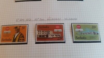 Barbados 1973 Sg 476-478 25Th Anniv Of University Mnh