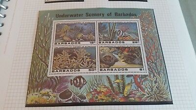 Barbados 1980 Sg Ms664 Underwater Scenery Mnh