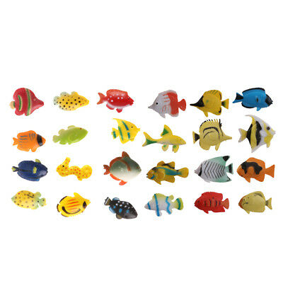 24pc Plastic Turtle Goldfish Animal Figures Beach Party Bag Fillers Kids Toy