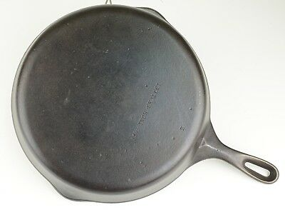 """Vintage Unmarked Wagner Ware #10 Cast Iron """"11-3/4 Inch Skillet"""" Restored Cond"""