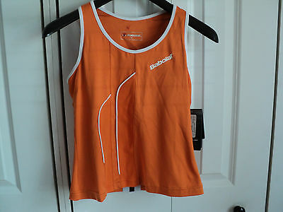 Babolat ClubWomen Performance Tennis Tank Top Md (built in Bra) Orange  NWT