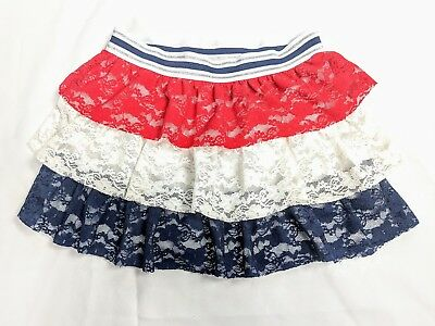Patriotic Girls Red White And Blue Fourth Of July Skirt XL 14/16