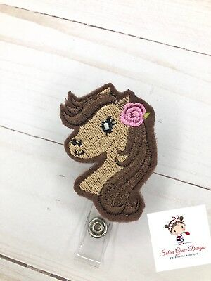 Custom made Horse ID Badge reel * Embroidered * FREE shipping