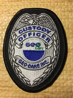 GEO Custody Officer Private Prison Police Patch