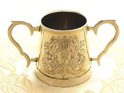 Vintage Silver Plated Two Handled Floral Patterned Loving Cup      1360216/219