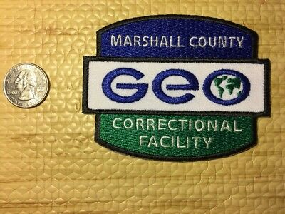 GEO Marshall Mississippi Correctional Facility Private Prison Police Patch