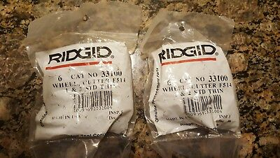 One Genuine Ridgid F-514 Cutter Wheel 1 & 2 Thin 33100 Pipe Cutting Wheel